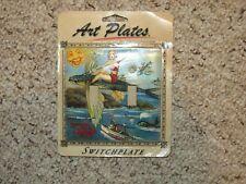 NWT Art Plates Double Switch Plate...Santa Catalina Island Theme