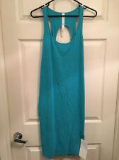 Lululemon Go For It Dress NWT Sz 8 HSUR Heathered Surge (Turquoise Color)