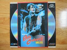 JOHN CAFFERTY and MICHAEL PARE signed EDDIE AND THE CRUISERS II Movie LASERDISC