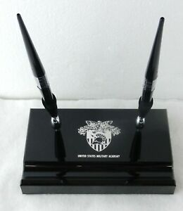 4x6.5 UNITED STATES MILITARY ACADEMY Plastic PEN HOLDER DESK SET West Point T89