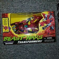 Beast Wars Transformers Original Mega Inferno Complete In Box Missiles Gun