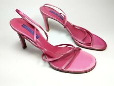 Ralph Lauren pink leather strappy high heel sandals uk 6 US 8.5B worn once