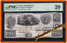 JC&C - 1840 $2 Kelsey H. Douglass Texas , Nacogdoches New Orleans - VF 20 by PMG