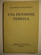 KATHERINE MANSFIELD UNA PENSIONE TEDESCA  (B18)