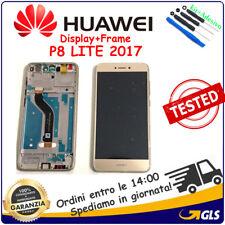 SCHERMO LCD DISPLAY Per Huawei P8 Lite 2017 FRAME PRA-LX1 PRA-LA1 PRA-LX3 ORO