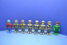LEGO 8 x Figur 4 Juniors Junior Rennfahrer Mechaniker grau Auto