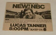 1974 NBC KSTP ad ~ LUCAS TANNER David Hartman as an unstoppable guy