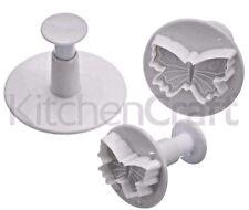 3x Coeur Décoration Gâteau sucre Craft Outil Moule Piston Cutter Icing Fondant NEUF