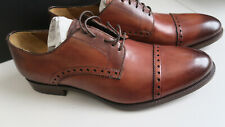 Gordon Rush Cognac Brogue dress shoe - Crawford Size 10 US -  MADE in ITALY!