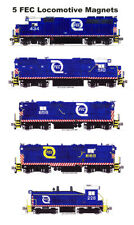 Florida East Coast Hurricane Logo Locomotives 5 magnets Andy Fletcher