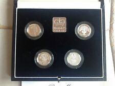 United Kingdom- 1984-1985-1986-1987- Piedfort Silver Proof Coin Set- £1 Piedfort