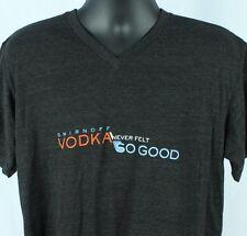 Smirnoff Vodka L TShirt Gray Never Felt So Good Diageo Iced Kissed Whipped Large