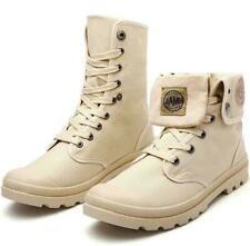 Mens Military Combat Canvas High top Trainers Boots Army Desert Boots Work Shoes