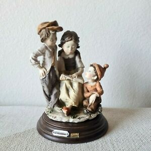 Giuseppe Armani Capodimonte Signed Italian Figurine Children Reading Girl 2 Boys