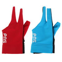 2Pcs Pro Snooker Billiard Pool Table Cue Glove Left Hand Three Finger Gloves