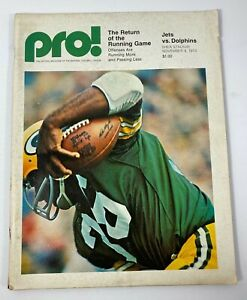 PRO! Official Publication of The NFL, New York JETS vs DOLPHINS November 4, 1973