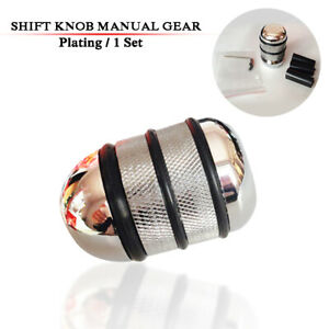 Car Universal Manual Gear Stick Shifter Lever Head Shift Knob Silver Aluminum