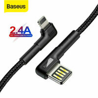Baseus USB to Lightning Charger Cable Data Cord Lead for iPhone XS Max 8 6s iPad