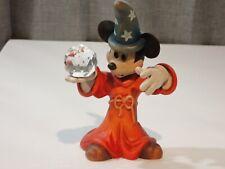 "Anri Disney Vintage Wood 6"" Mickey Mouse Sorcerer w Crystal Ball # 204/1000"