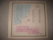 ANTIQUE 1864 MANHEIM STRASBURG LANCASTER COUNTY PENNSYLVANIA HNDCLR MAP RAILROAD