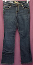 """KUT FROM THE KLOTH """"NATALIE HIGH RISE BOOTCUT"""" sz 8 FLAP PKT BLUE JEANS  #394-2"""