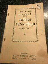ORIGINAL 1960 MORRIS TEN-FOUR 10-4 SERIES M SERVICE OPERATION REPAIR MANUAL