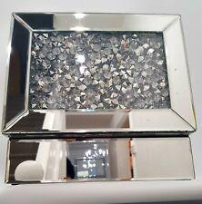 Diamond Crush effetto di cristallo argento PORTAGIOIE specchiato elegante Bling