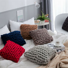 Handmade Braided Square Throw Pillow Back Cushion INS For Sofa Kid Bedroom Decor