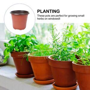 10-100X Jardin Pépinière Rond Pot semis de fleur conteneur planteur en plastique