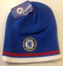 Chelsea FC Beanie Winter Hat Cap New W/Tags Snow Style Solid