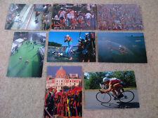 Vintage Triathlon Postcards. Set of 8. 1980's Nice Triathlon. swim, cycle, run.