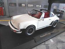 Porsche 911 930 Turbo Targa 1987 White White 187660 Norev 1:18