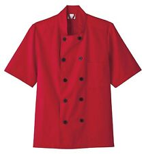 Five Star Unisex Chef Coat Red 18025-016 Apparel