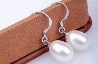 Genuine Freshwater Pearl Stud Earrings White Peach Lavender Round Tear Drop Hook