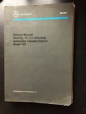 Mercedes Benz Service Manual Model 107 Heating Air Conditioning Climate Control