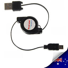 Retractable USB To Mini 5 pin Power Charger and Data Cable - NEW (N017)