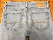 ABERCROMBIE & FITCH SKINNY BUTTON FLY JEANS ACTUAL 32 x 33 Tag 29 x 32 BEST A56
