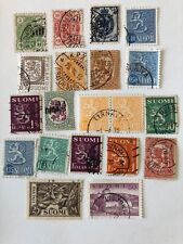 Finland Postage Stamps, used lot of (20) hinged