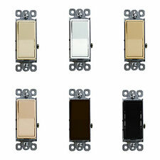 Decorator Rocker Switch 15 Amp 3 Way Light Switch Light Control 93150 Colors