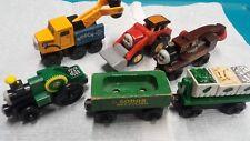 HTF Thomas The Train & Friends Wooden Trevor Butch Jack Harvey Lot of 6