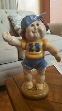 Vintage Ceramic Cabbage Patch Boy Baseball LA Dodgers 1985 Hand Painted SEAN #23