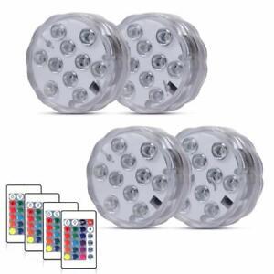 Sumergibles LED Light Luces De Agua Impermeables Estanque Fiesta Boda Florero