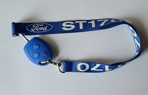 St170 Lanyard Blue With White