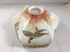 Abat jour Opaline peint Oiseau Fleur pagode Japonisant Ø 17 cm N° 2 / 2