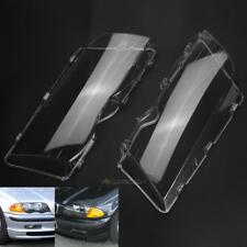For BMW E46 1998-2001 Headlight Head Light Lens Replacement Cover Left & Right