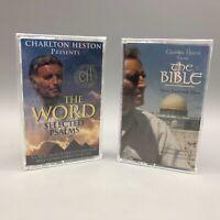Charlton Heston Cassette Lot Of 2 - NEW - Psalms The Bible Soundtrack
