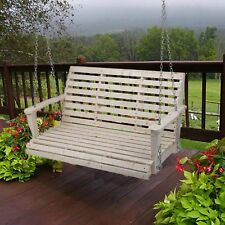 New Cypress Wood Wooden Porch Bench Swing WITH HANGING HARDWARE wood colar