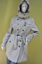 Burberry Brit Womens House Check Lining Trench Coat Parka Quilted Vest Hood 12