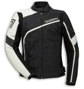 Ducati Dainese 77 Retro Ladies Leather Jacket Lady New 2020