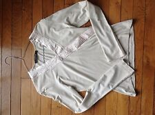 T-shirt beige cache-coeur Caroll Taille 40 manches longues